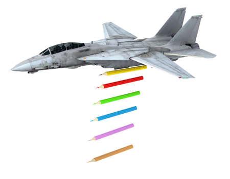 faire l amour: avion de guerre lancement crayons au lieu de bombes, faire l'amour pas des concepts de guerre