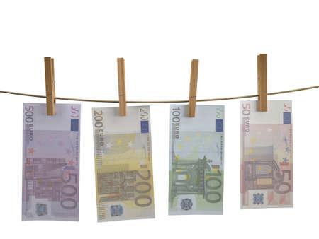 banconote euro: Molti Euro banconote appesa