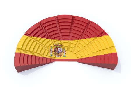 congress: 3d concept spain parliament with flag color