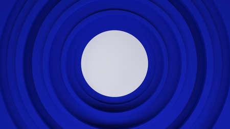 blue circles: abstract blue circles, 3d illustration Stock Photo