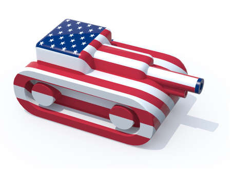 tanks: toy tank colored with usa flag, 3d illustration