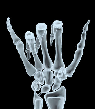 x-ray hand making hangloose gesture, 3d illustration Stock Photo