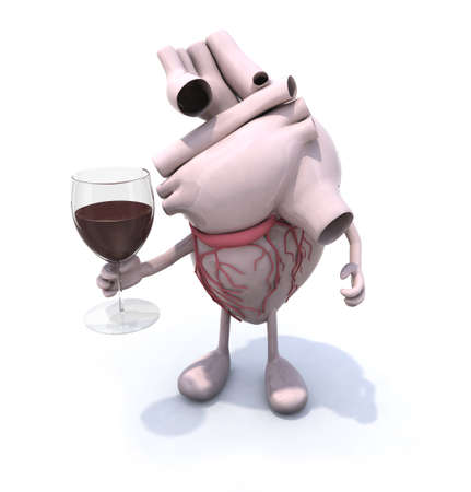 Red wine and resveratrol: Good for your heart! Stock Photo