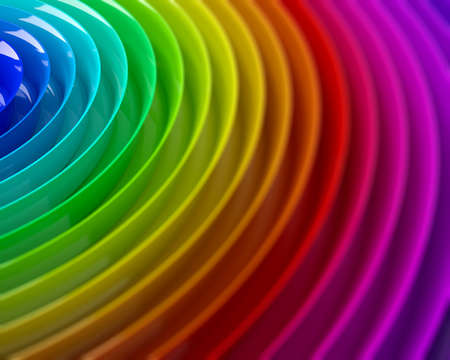Rainbow colorful blurred background 3d illustration Stock Photo