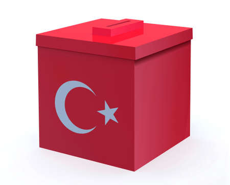 Turkish election ballot box, 3d illustration 写真素材