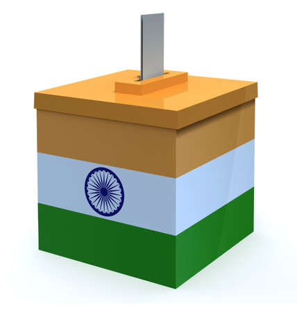 Indian election ballot box, 3d illustration