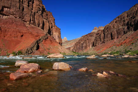 Hance Rapids and the Colorado River in Grand Canyon National Park, Arizona.