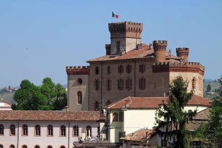Barolo, Italy 04-10-2011 The Barolo Castle in the Piemonte wine region of northern Italy. Editorial