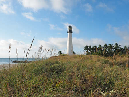 Cape Florida Lighthouse at Bill Baggs Cape Florida State Park in Key Biscayne, Florida.