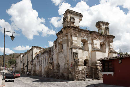 Antigua, Guatemala 03-01-2008 The ruins of an old colonial building in Antigua. Editorial