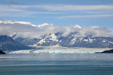 Hubbard Glacier and Yakutat Bay, Alaska, in summer 版權商用圖片