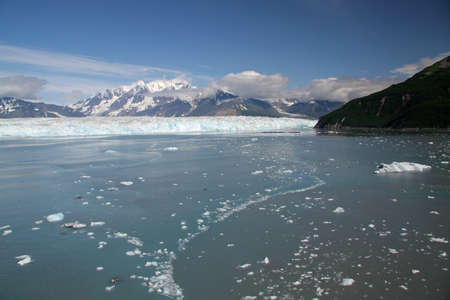 Hubbard Glacier and Yakutat Bay, Alaska, in summer Standard-Bild
