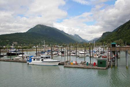 Skagway, Alaska - August 2, 2006 - Small boat harbor in Skagway, Alaska.