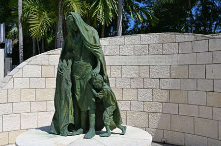 Miami Beach, Florida - July 21, 2019 - The Holocaust Memorial, designed by Kenneth Treister in memory of all Jews that were lost in the Holocaust. Editorial