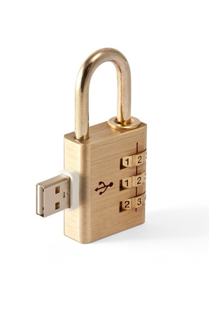 Concept of USB Data Security Stock Photo - 10117125