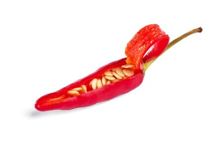 Red Hot Chilli opens to let you discover the heat inside (includes Clipping Path)