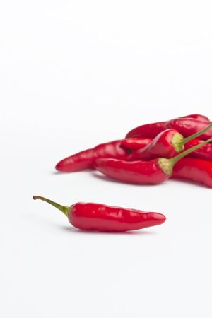 Red Hot Chillies isolated on white