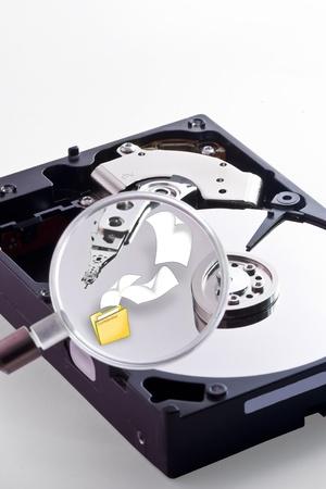 disco duro: Tratando de encontrar algunos archivos en el disco duro con una lupa