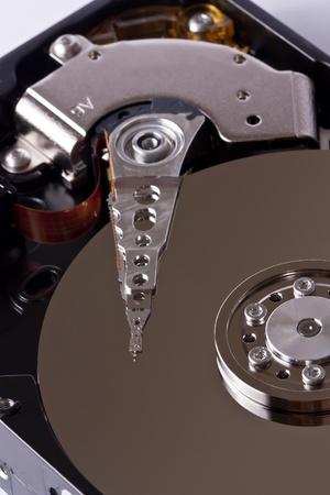terabyte: Close-up of an open Hard Disk Drive