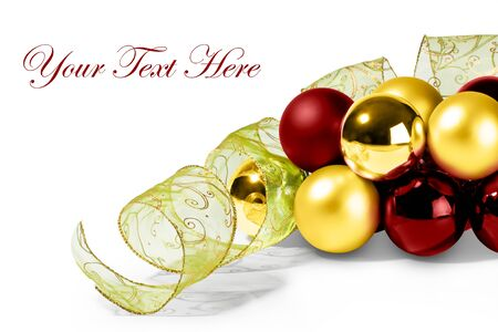 Bubles and Christmas Ribbon for a beautifull Merry Christmas card or invitation letter