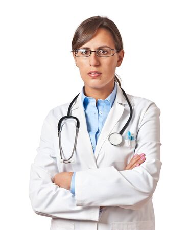 trusty: Trusty Professional Woman Doctor Standing Stock Photo