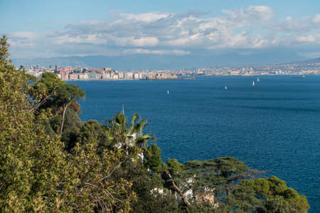 naples: Posillipo Naples with on the background