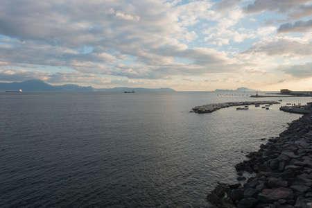 naples: Sunset on Naples seafront