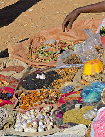 Ethiopian street market at Hawzen, southern Tigray region, Ethiopia Stock Photo - 16207014