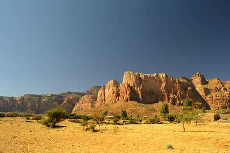 Golden ethiopian landscape Stock Photo