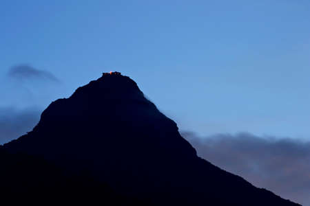 View of Adam s Peak  Sri Pada  at dusk