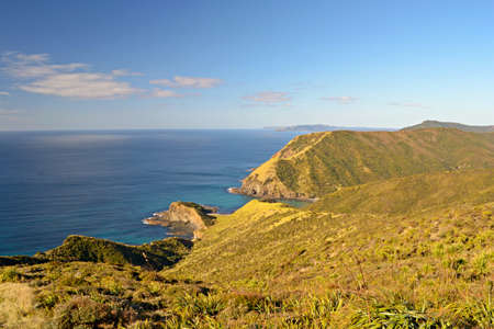 Spirits Bay in a bright day at Cape Reinga, the northernmost point in New Zealand photo