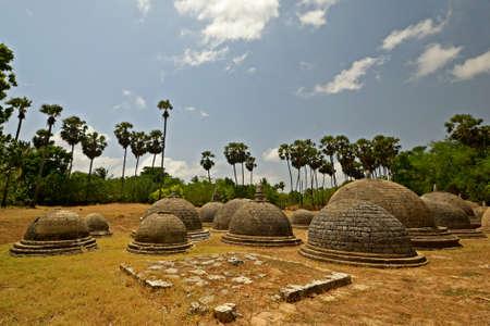 Katurogoda Oude Vihara, Jaffna district, Sri Lanka een mysterieuze oude boeddhistische site in het midden van de hindoe tamil regio