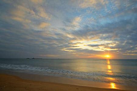 Long exposure taken on a tropical beach during monsoon time  Location  Nilaveli beach, Sri Lanka Stock Photo - 16814447