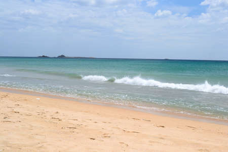 Nilaveli desert tropical beach and Pigeon Island National Park, in North-East Sri Lanka  photo