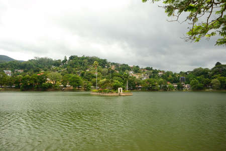 View of the artificial lake in the city of Kandy, Sri Lanka Stock Photo - 17076028