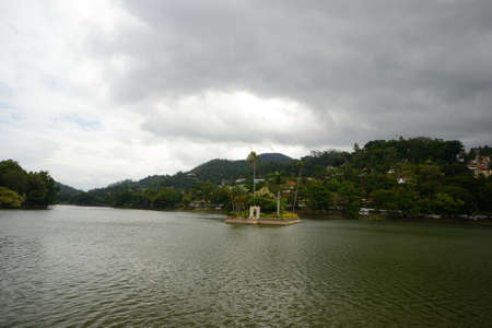 View of the artificial lake in the city of Kandy, Sri Lanka Stock Photo - 17076004