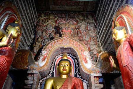 Lankatilake Temple near Kandy, Buddha statue Stock Photo - 17126796