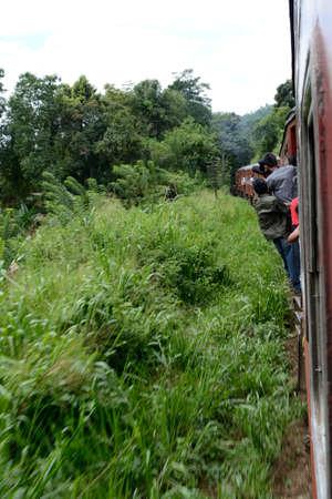 Travelling by train in Sri Lanka