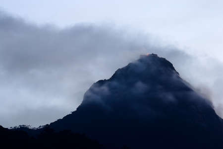 View of Adam s Peak, also known as Sri Pada, at dusk  Sri Lanka Stock Photo - 17204957