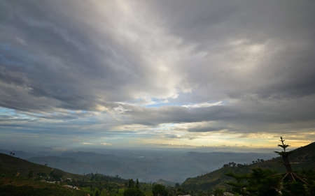 Sri Lankan hill country landscape at dusk Stock Photo - 17223273
