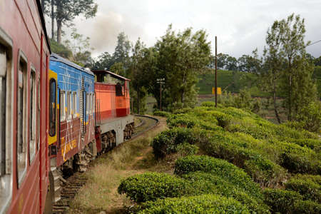Travelling by train in Sri Lanka photo