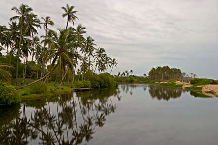 Tangalla backwaters during monsoon time