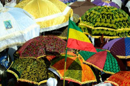 Colorful Timkat celebration in Gonder, Ethiopia