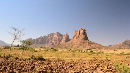 Ethiopian landscape in the Tigray region