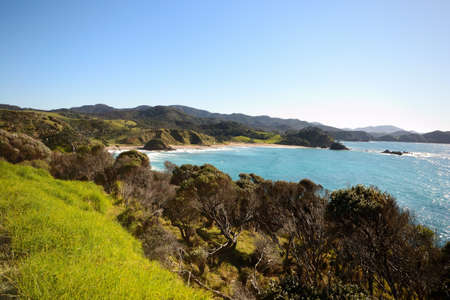 Stunning view of Whangaruru Bay in winter from Old Russel Road, Bay of Islands, New Zealand