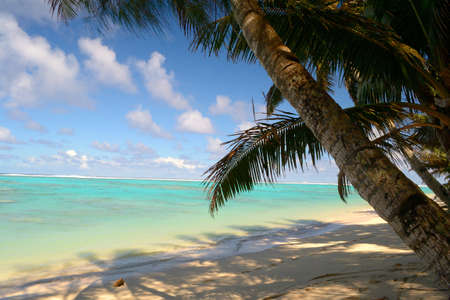The gorgeous beach and sea of Rarotonga, Cook Islands, Pacific Ocean Reklamní fotografie
