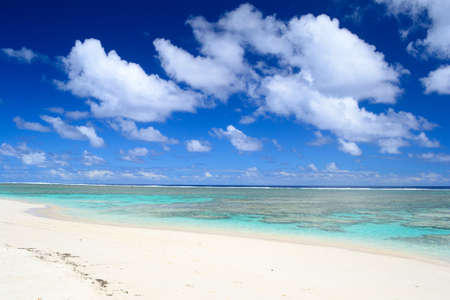 The gorgeous beach and sea of Rarotonga, Cook Islands, Pacific Ocean photo