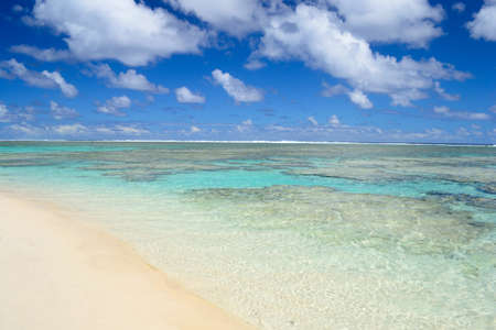 The gorgeous beach and sea of Rarotonga, Cook Islands, Pacific Ocean