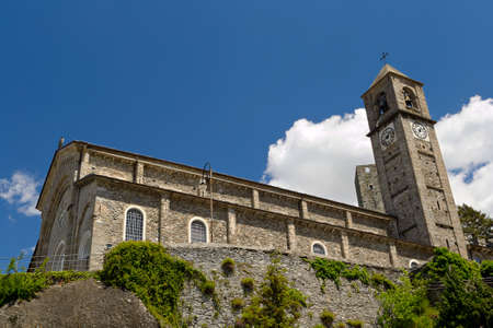 San Costanzo church  XIII sec   in Pont Canavese, Locana Valley, Western Alps, Piedmont, Italy  photo
