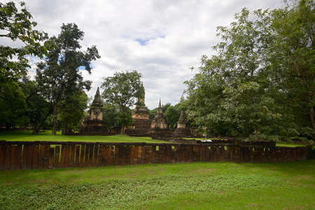 Wat Chedi Chet Theo in Si Satchanalai Historical Park, ancient temple complex in Sukhothai region, Central Thailand photo